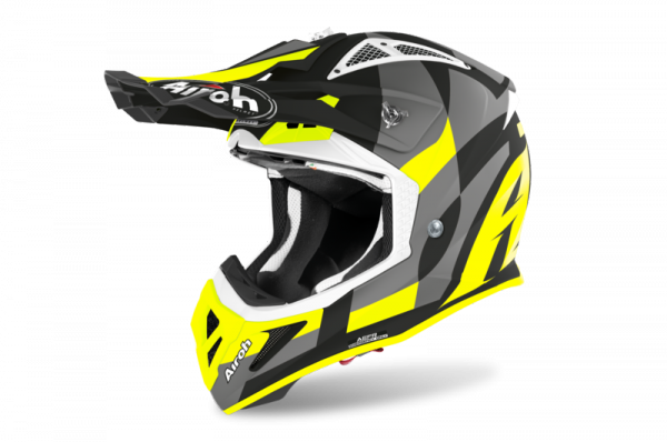 AIROH KASK OFF-ROAD AVIATOR ACE TRICK YELLOW MATT