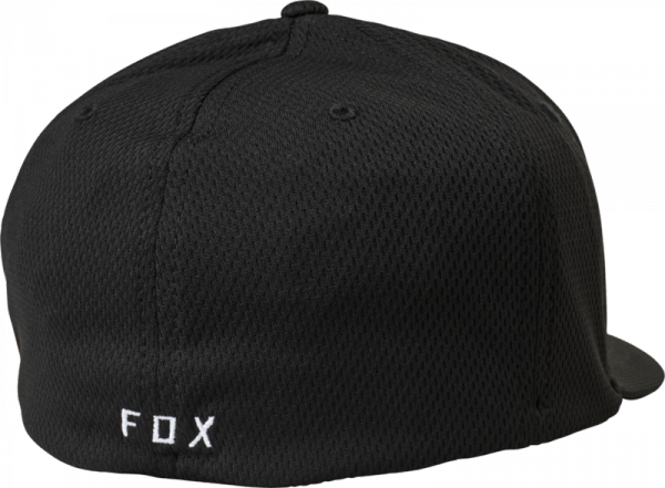 FOX CZAPKA Z DASZKIEM  LITHOTYPE FLEXFIT BLACK/WHI