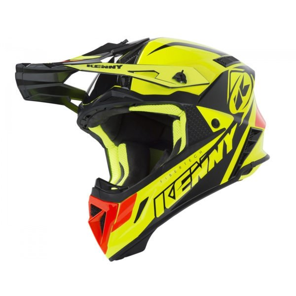 KENNY KASK OFF-ROAD TROPHY NEON YELLOW ORANGE 2019