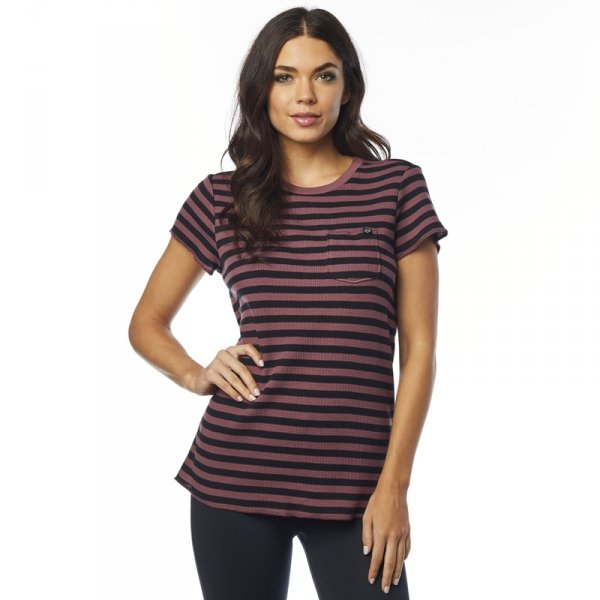FOX  T-SHIRT LADY STRIPED OUT ROSE