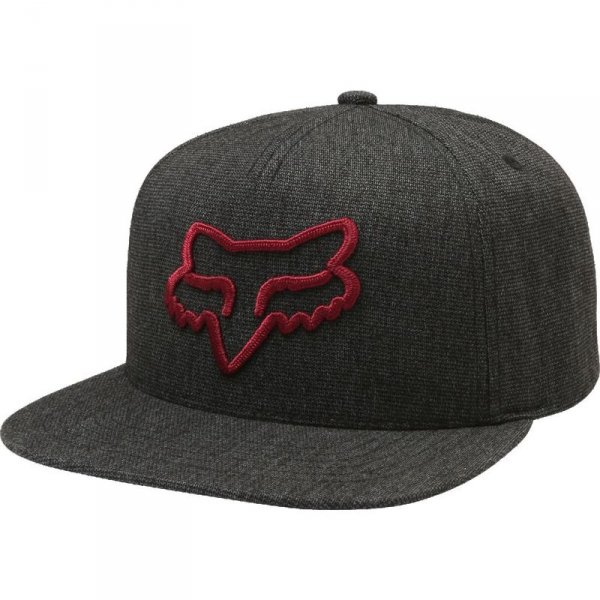 FOX CZAPKA Z DASZ. INSTILL SNAPBACK HEATHER BLACK