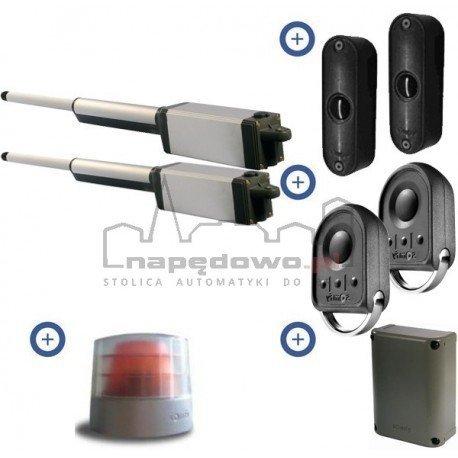 Zestaw Somfy Ixengo L 3S RTS 24V Comfort Pack (2 piloty 4-kanałowe Keygo, lampa, fotokomórki, antena, akumulator)