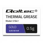 Pasta termoprzewodząca Qoltec 3.05 W/m-K   0.5g   złota