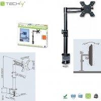 Uchwyt biurkowy Techly LCD/LED 13-19 regulowany, czarny