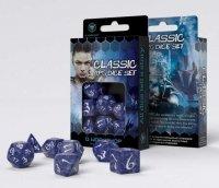 Zestaw kości - Classic RPG Cobalt & white Dice Set (7)