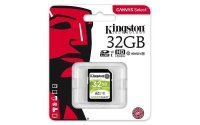 Kingston 32GB SDHC Canvas Select 80R CL10 UHS-I
