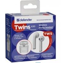 Słuchawki z mikrofonem Defender TWINS 630 bezprzewodowe Bluetooth