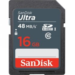 Karta pamięci SDHC SanDisk Ultra 16GB 48 MB/s class 10 UHS-I