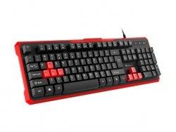 Klawiatura przewodowa Genesis Rhod 110 Gaming czarno-czerwona