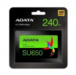 SSD ADATA Ultimate SU650 240GB 520/450 MB/s 7mm, 3D NAND