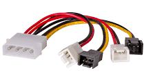 Kabel adapter Akyga AK-CA-34 Molex 2x 3-pin