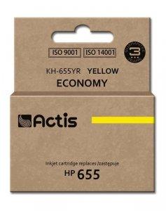 Tusz ACTIS KH-655YR (zamiennik HP 655 CZ112AE; 12 ml; żółty)
