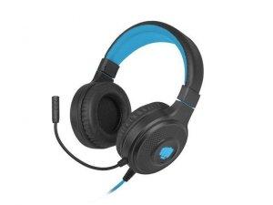 Słuchawki z mikrofonem Fury Warhawk podświetlenie RGB Gaming czarno-niebieskie