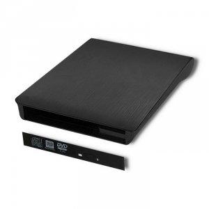 Obudowa/kieszeń Qoltec na napęd SATA | 12.7mm | USB 2.0