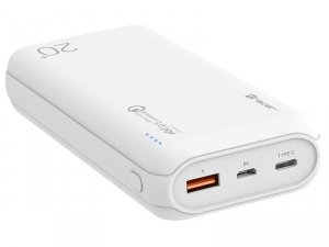 Powerbank Tracer 20000 mAh QC 3.0 white
