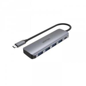Hub USB-C Unitek H1107B 4x USB 3.1 Gen 1, PD 100W