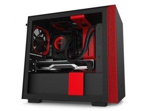 Obudowa NZXT H210 Mini Tower czarno-czerwona z oknem