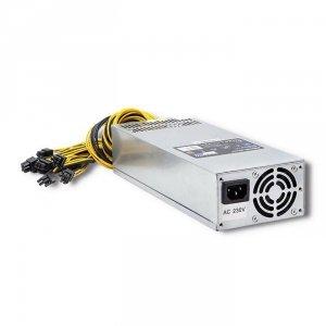 Zasilacz PCI-E Smart Qoltec 1600W | 80 Plus Gold | Data Mining