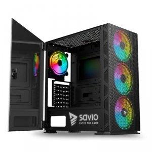 Obudowa PC SAVIO Raptor X1 ARGB Mesh/Glass