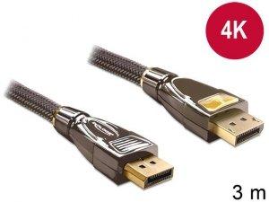 Kabel Delock DisplayPort M/M 20 Pin v1.2 3m 4K antracyt