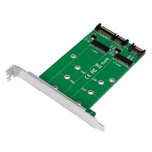 Adapter LogiLink PC0086 2x SATA na 2x M.2 SATA SS