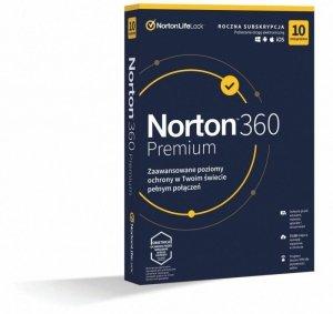 Oprogramowanie NORTON 360 Premium 75GB PL 1 użytkownik, 10 urządzeń, 1 rok