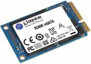 Dysk SSD Kingston KC600 512GB mSATA 1,8 (550/520 MB/s) NAND 3D TLC