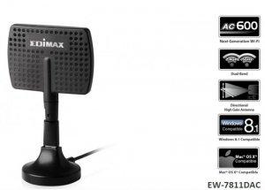 Karta sieciowa Edimax EW-7811DAC USB WiFi AC600 kierunkowa