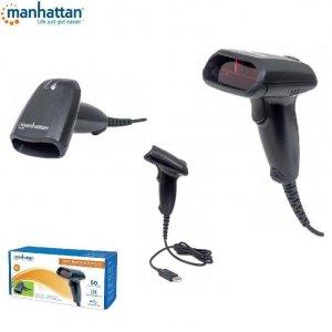 Skaner kodów kreskowych Manhattan USB, laserowy