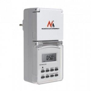 Timer cyfrowy Maclean MCE08G zewnętrzny 10 programów funkcja losowa 3600W max 156 programów