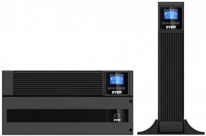 Zasilacz awaryjny UPS Ever Powerline RT PLUS 10000 VA VFI 2xC13 Sin USB RS rack/tower