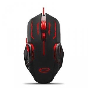 Mysz przewodowa Esperanza MX403 Apache optyczna Gaming 6D USB czerwono-czarna