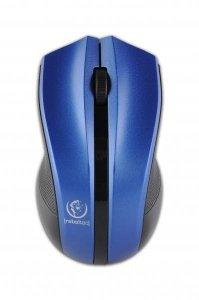 Mysz bezprzewodowa Rebeltec optyczna 1000DPI 3 przyciski czarno-niebieska
