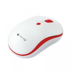 Mysz bezprzewodowa Techly 1600dpi optyczna biało-czerwona