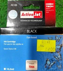 Tusz Activejet AE-66 (zamiennik Epson Stylus C48; 10 ml; czarny)