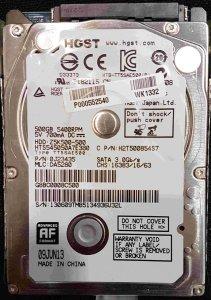 UŻYWANY Dysk 500 GB 2.5cala  HITACHI SATA2 HGST 5400 16MB (H2T500854S7)