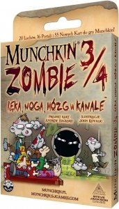 Munchkin Zombie 3/4 - Ręka, noga, mózg w kanale