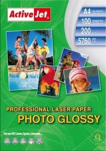 Papier fotograficzny do druku laserowego błyszczący Activejet A4 /na szt./ 200g/m2