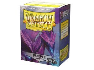 Koszulki Dragon Shield Matte Non-Glare Sleeves - Purple (100 Sleeves)