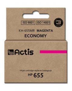 Tusz ACTIS KH-655MR (zamiennik HP 655 CZ111AE; 12 ml; czerwony/magenta)