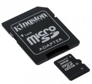 Kingston microSDHC 32GB class 10 + adapter