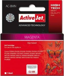 Tusz magenta do Canon (zastępuje Canon CLI-8M)(chip) ActiveJet AC-8MN