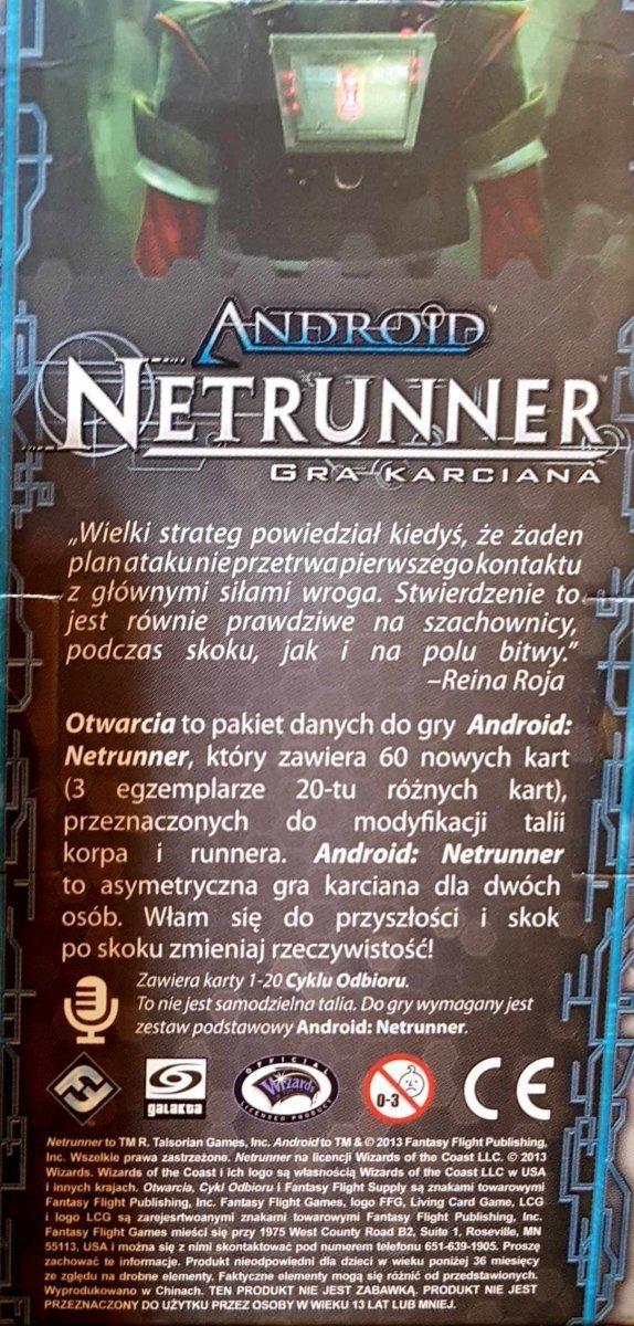 ANDROID: NETRUNNER CYKL ODBIORU OTWARCIA LCG PL