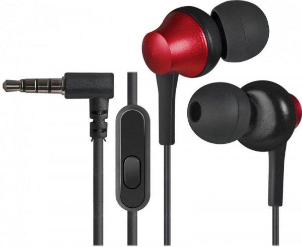 Słuchawki z mikrofonem Defender PULSE 470 douszne 4-pin czarno-czerwone