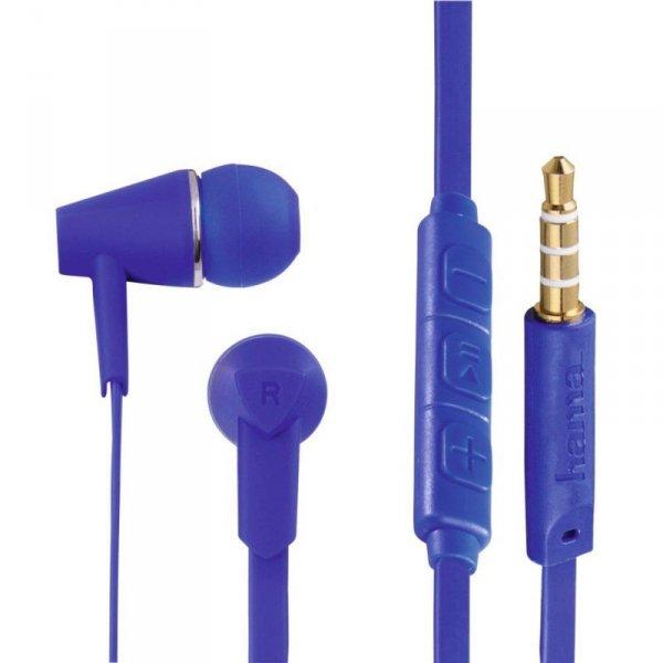 """Słuchawki z mikrofonem Hama""""Joy"""" dokanałowe niebieskie"""