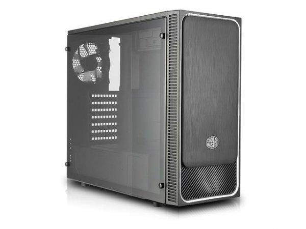 Obudowa Cooler Master MasterBox E500L Midi Tower bez zasilacza z oknem czarno-srebrna - USZ OPAK