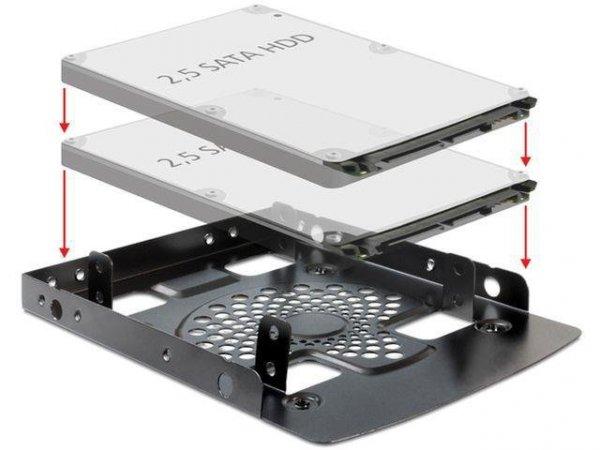 """Adapter Delock HDD sanki-szyna 3,5""""->2x2,5"""""""