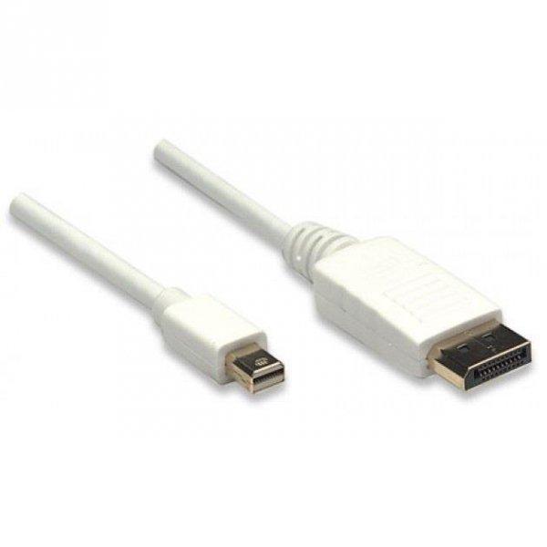 Kabel Manhattan DisplayPort/DisplayPort M/M 2m biały