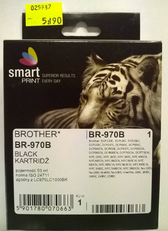 BROTHER LC970 BLACK      smart PRINT