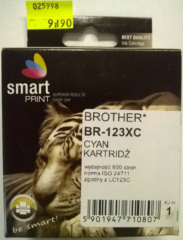 BROTHER LC123 CYAN       smart PRINT